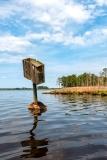 Empty Duck Box. Blackwater National Wildlife Refuge
