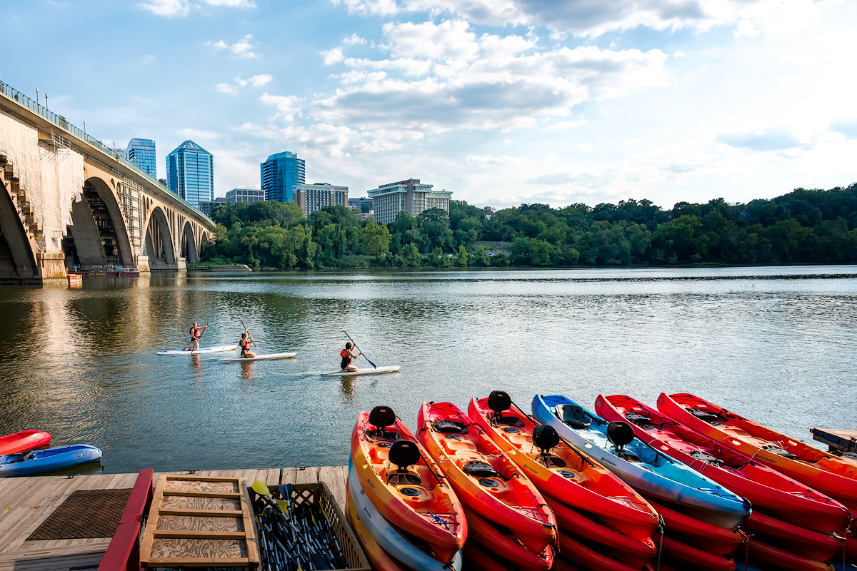 Paddle Boarding the Key Bridge
