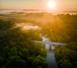 Monocacy's Le Gore Bride at Sunrise